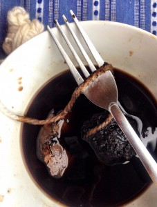 Ready for the yarn.