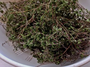 Drying thyme